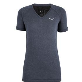 SALEWA Puez Mel Dry V-hals T-shirt Dames, ombre blue melange